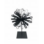 Escultura Flor Preta