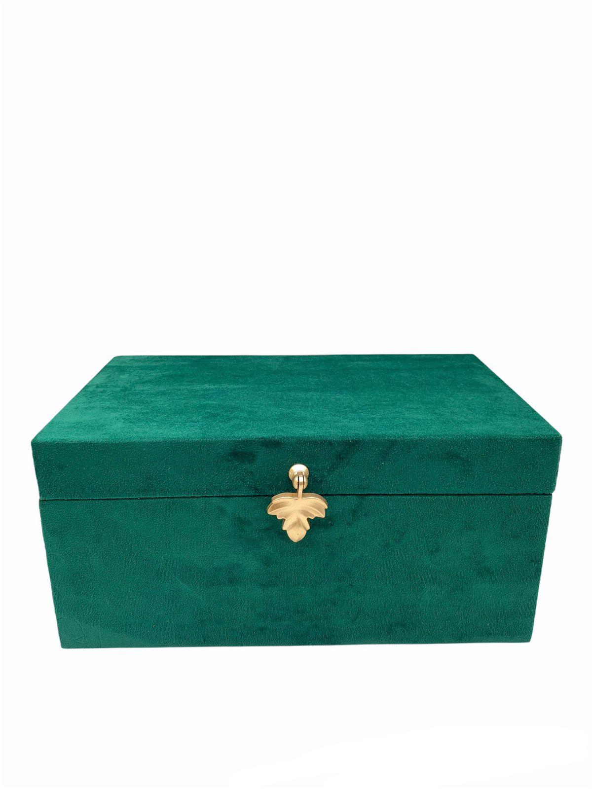 Caixa Veludo Verde M