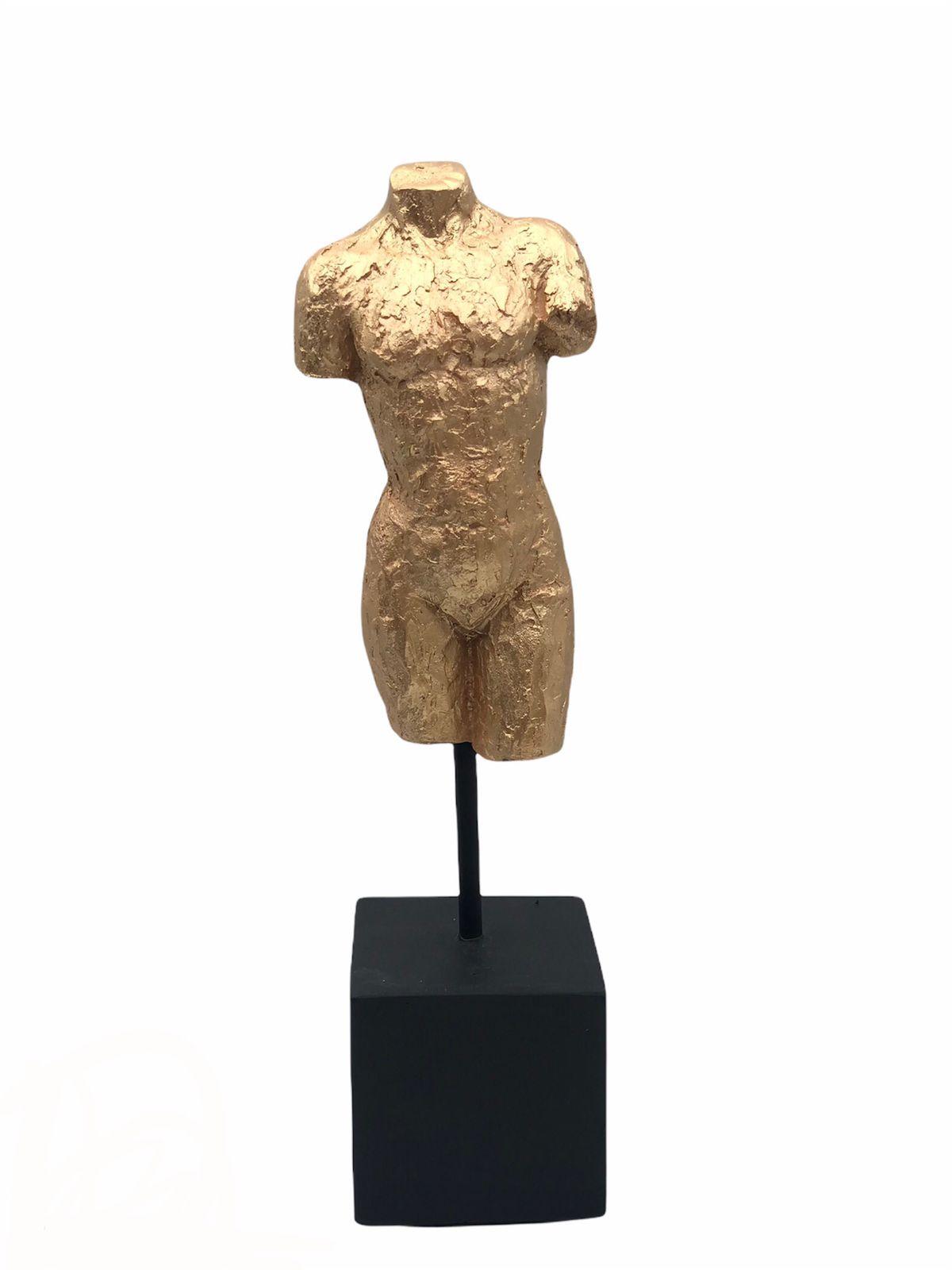 Escultura Tronco Dourado