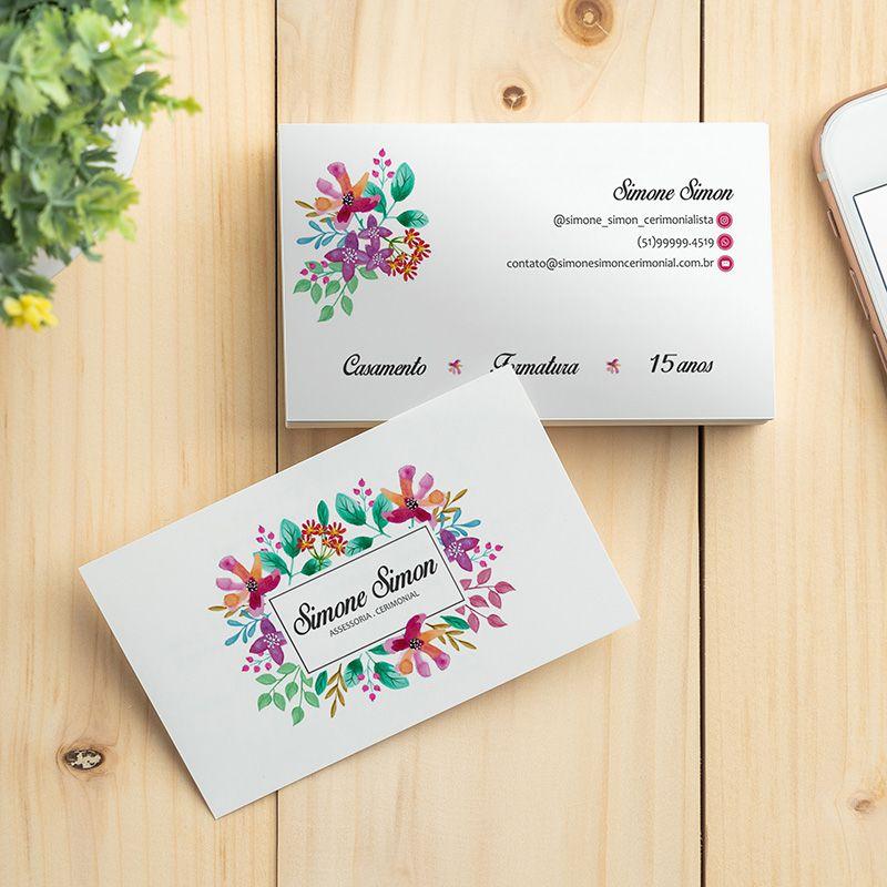500 Cartões de Visita com Laminação Fosca + Verniz Local