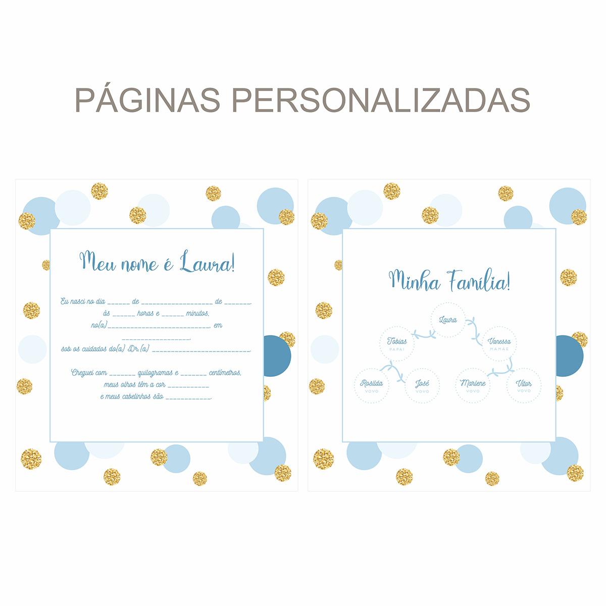 Álbum Confetti Azul