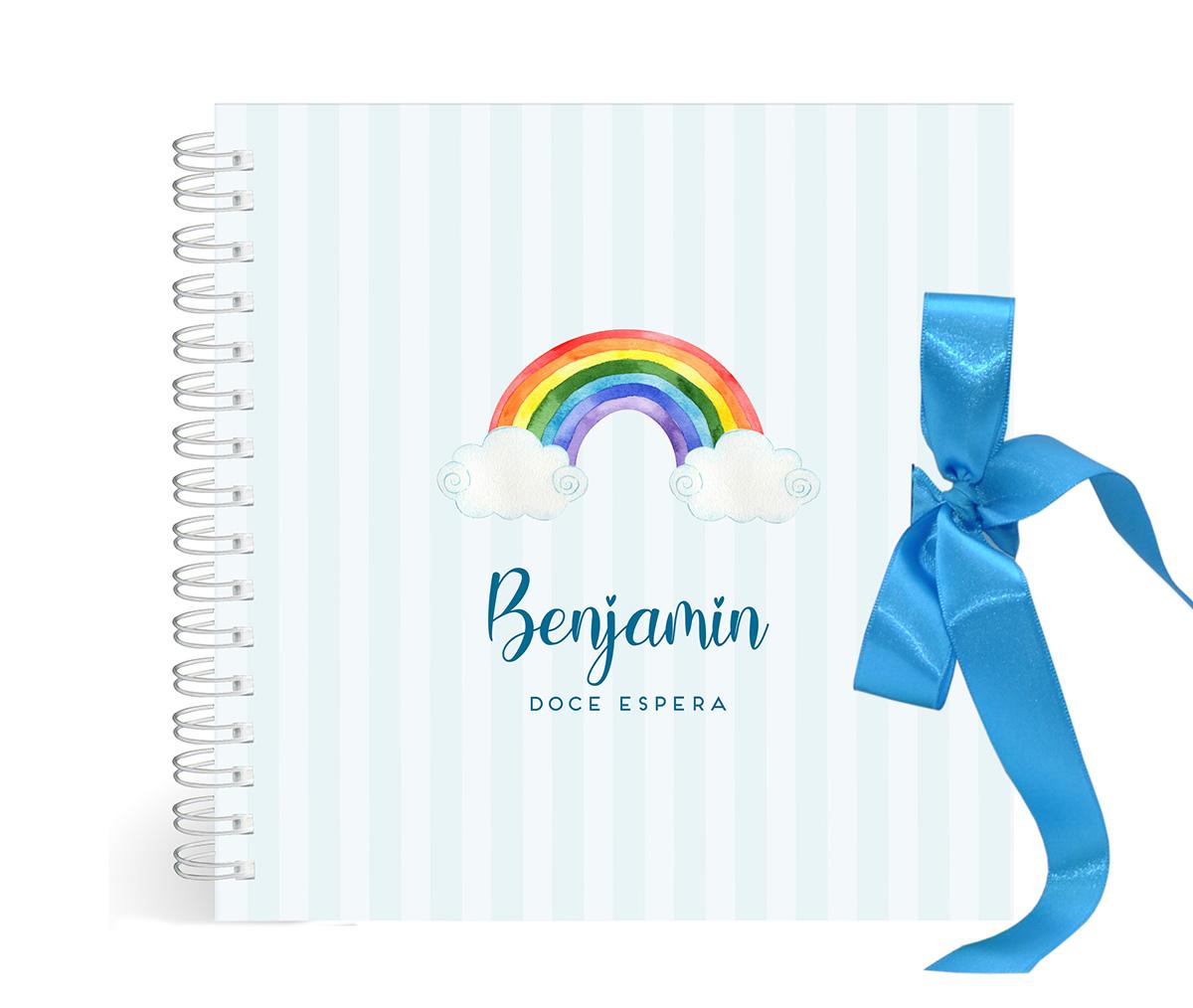 Álbum Gestação Arco-íris Azul