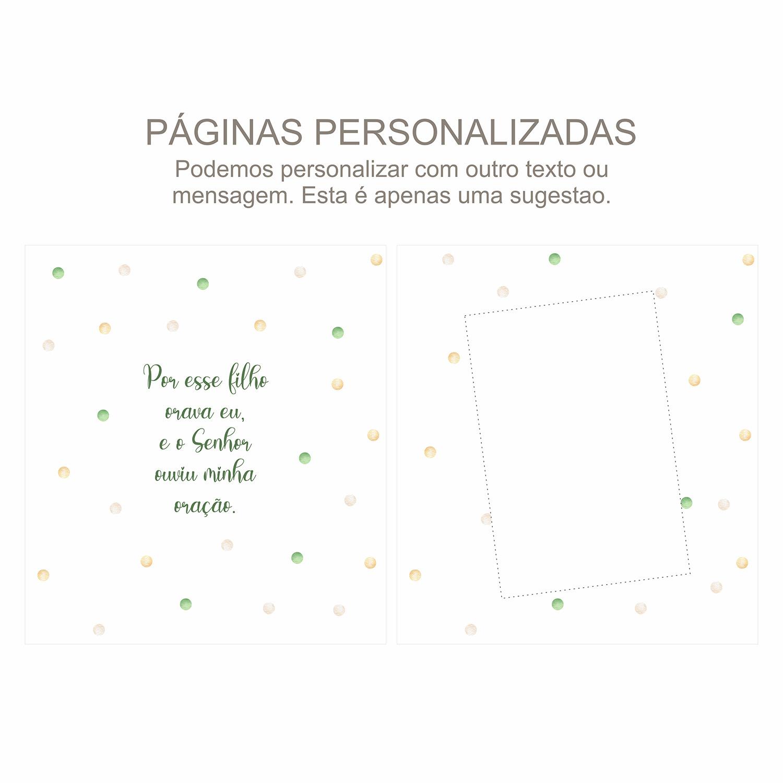 Álbum Gestação Confetti Verde