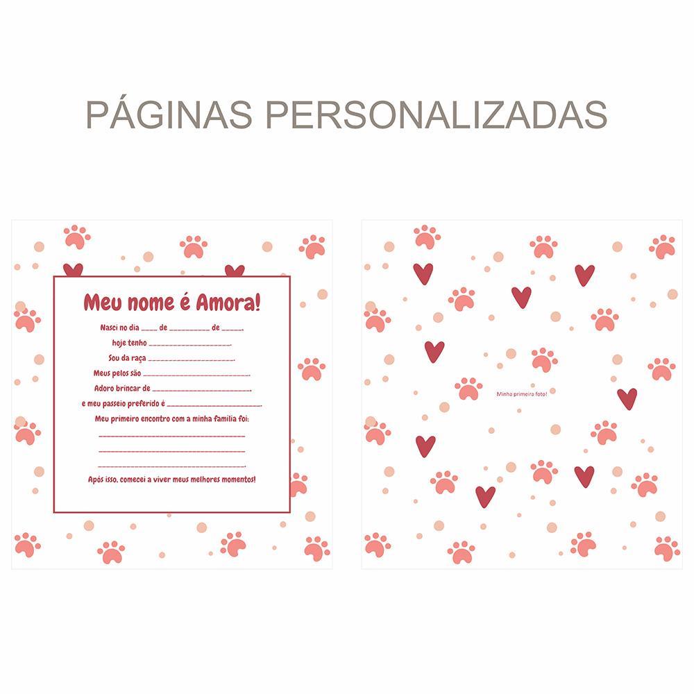 Álbum Pet Corações - vermelho