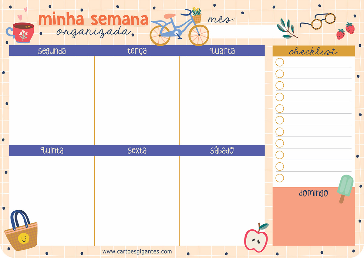 Bloco Semanal Happy Time