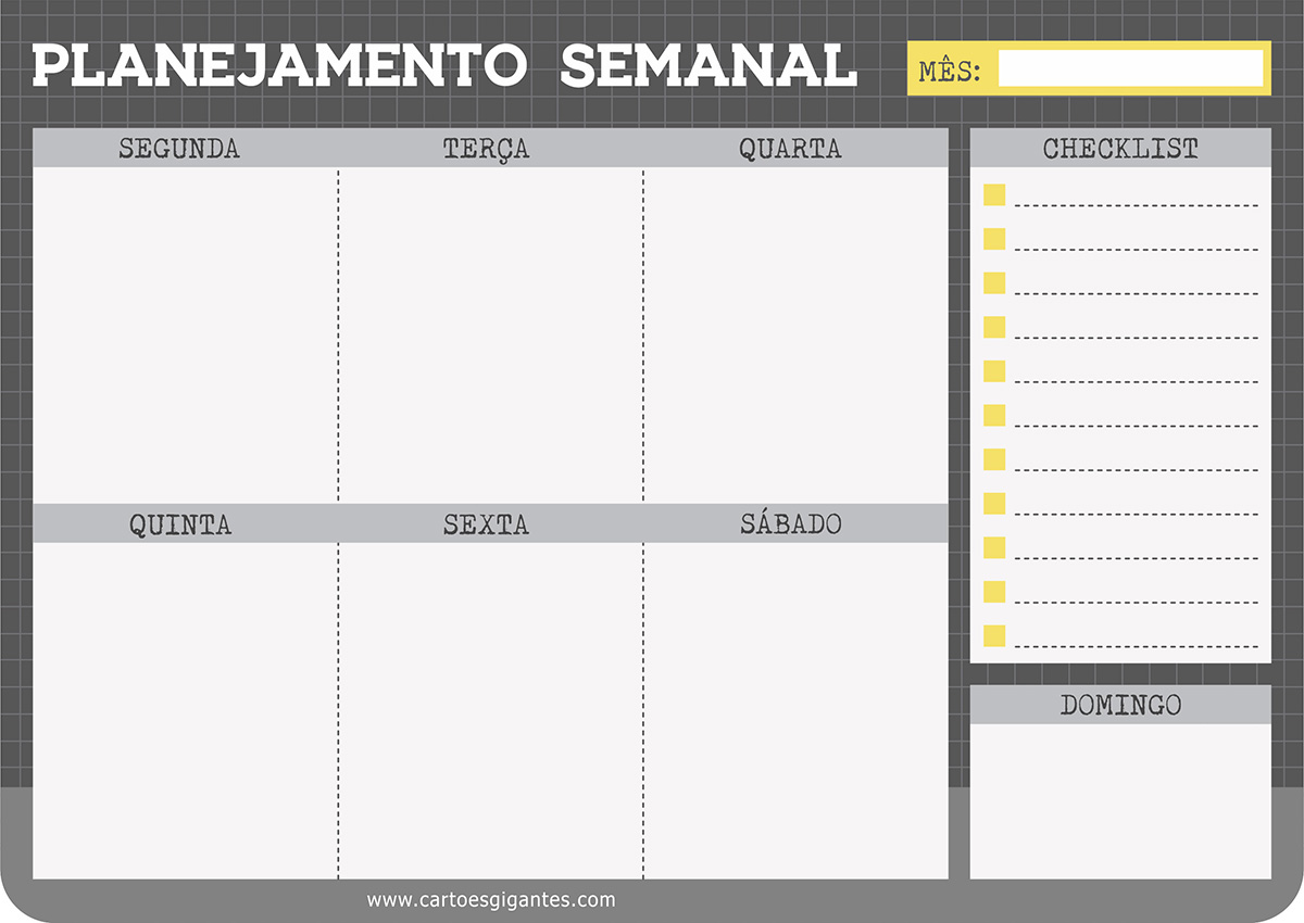 Bloco Semanal Office