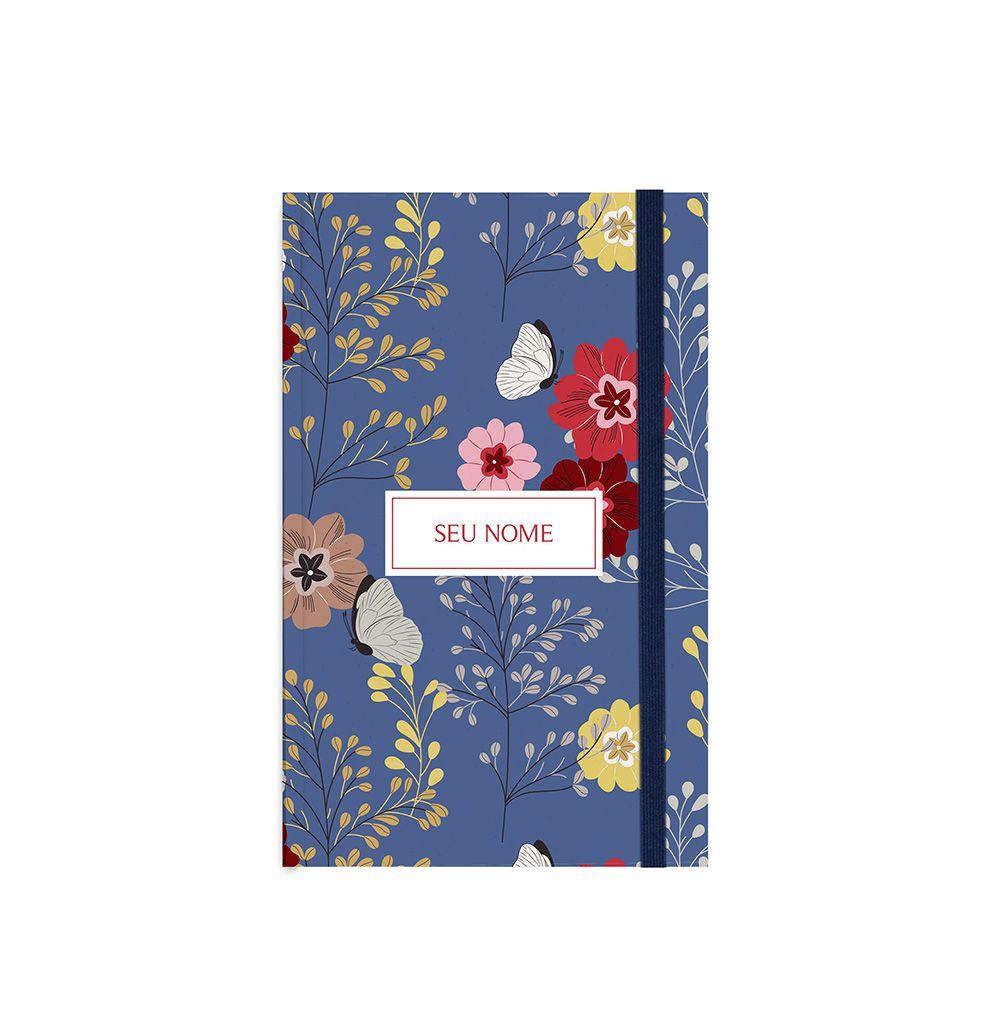 Brochura Floral Azul