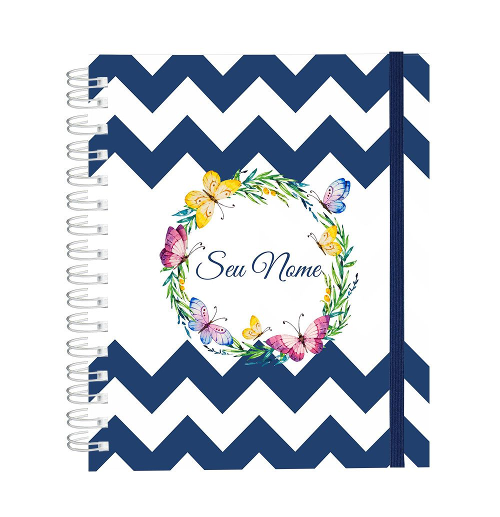 Caderno Blue Butterfly