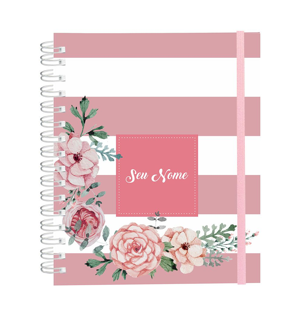 Caderno Candy Flowers Rosé