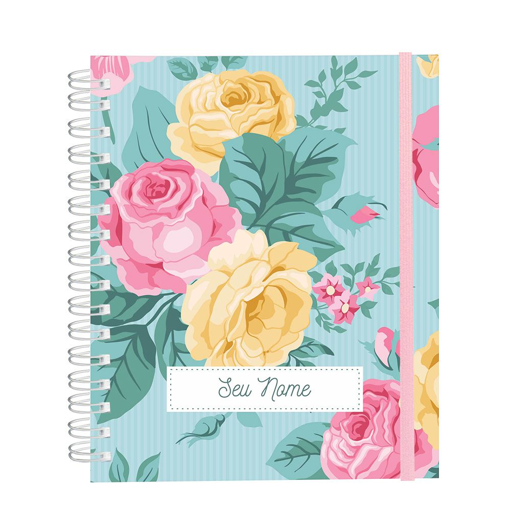 Caderno Delicate Roses