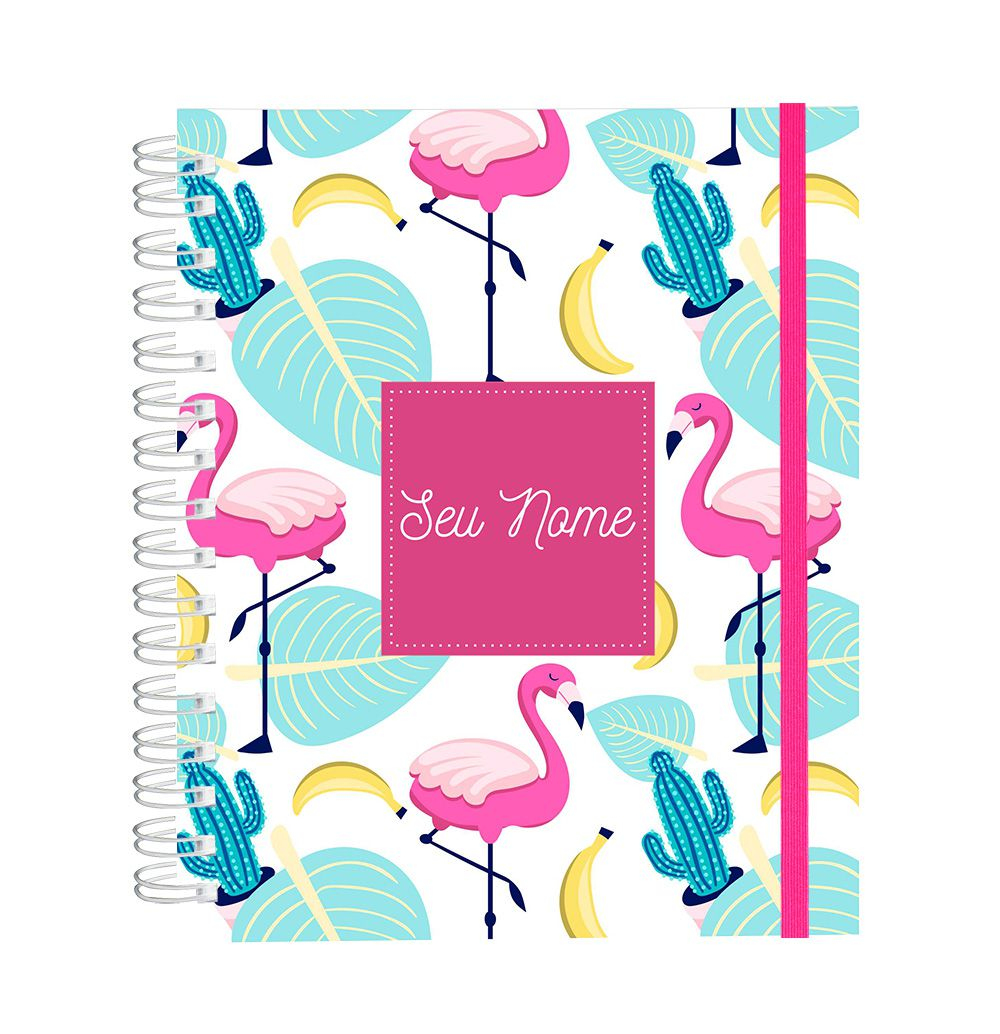 Caderno Flamingos