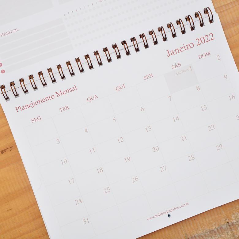 Calendário de Parede Rebeca