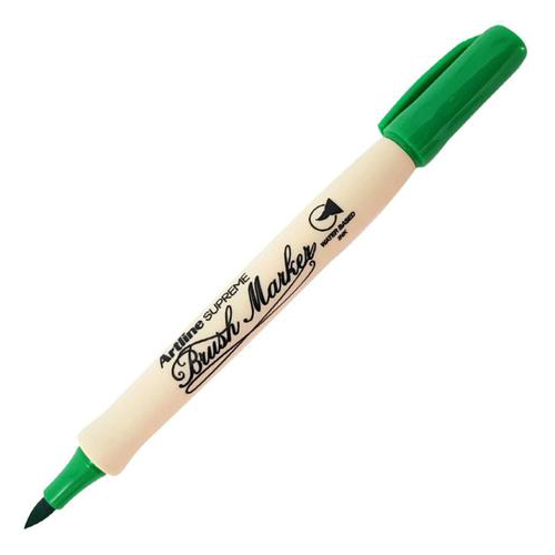 Caneta Brush Marker Verde