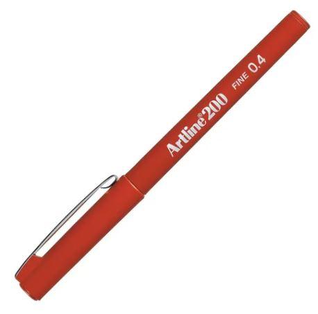 Caneta Hidrográfica 0.4mm Vermelho Escuro