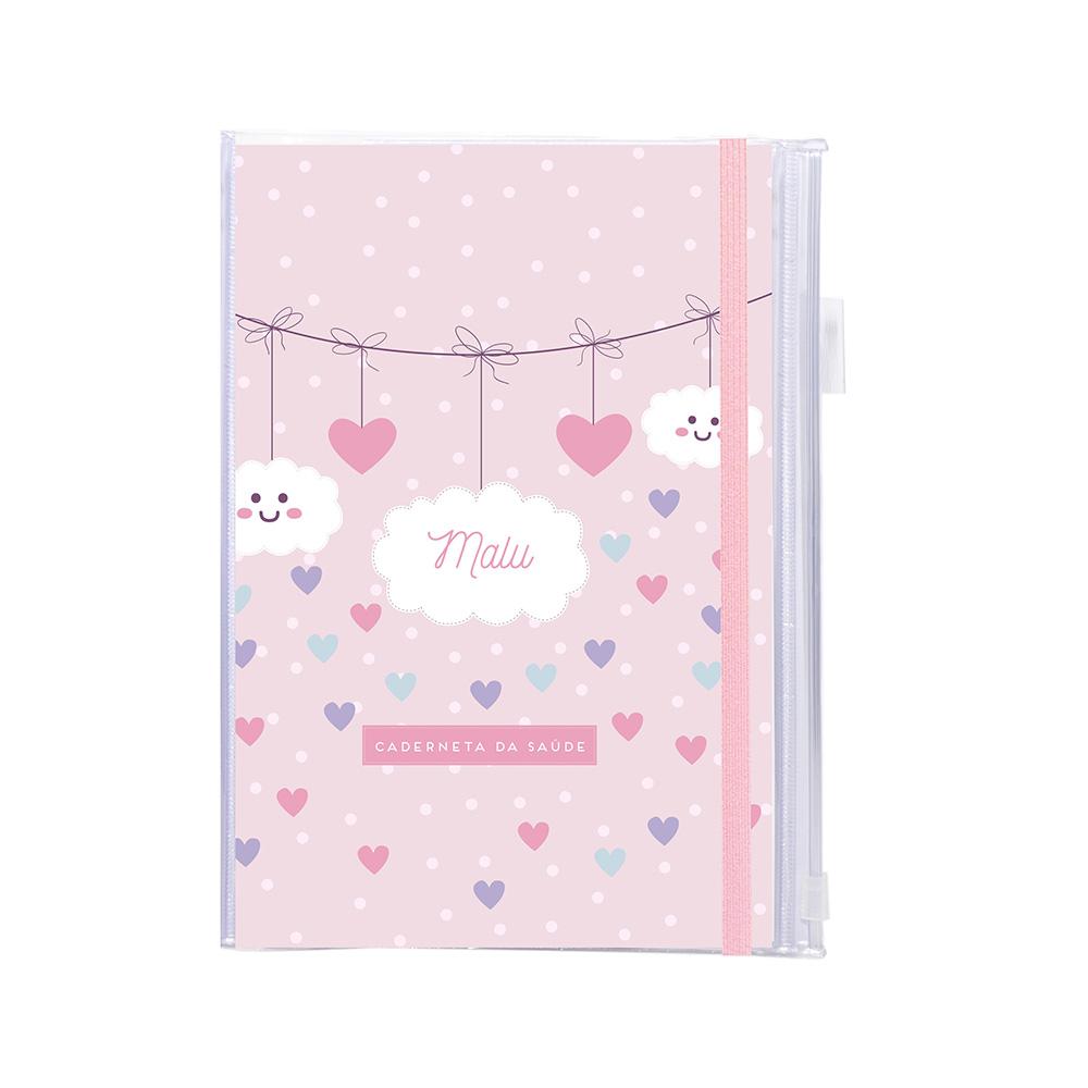 Capa Chuva de Amor Rosa
