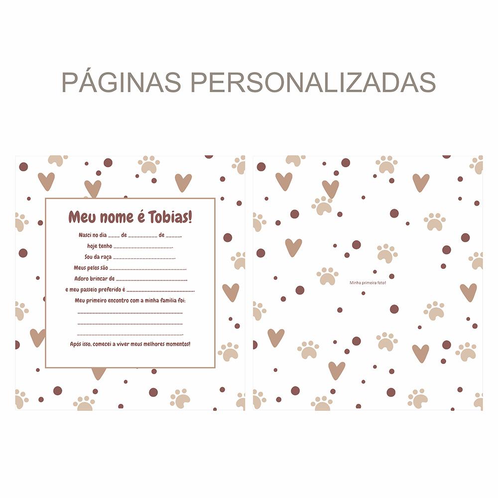 Álbum Pet Corações - marrom