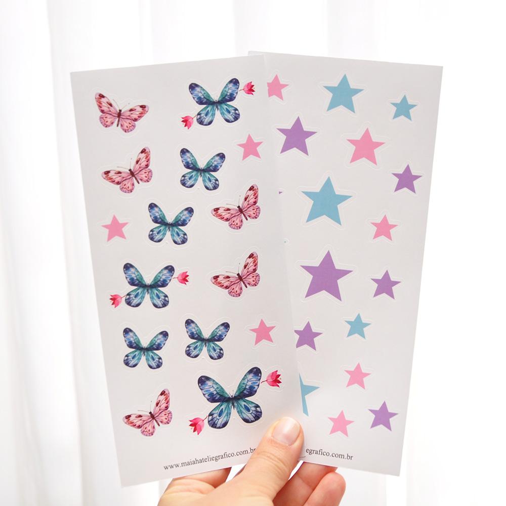 Kit Adesivos Butterfly