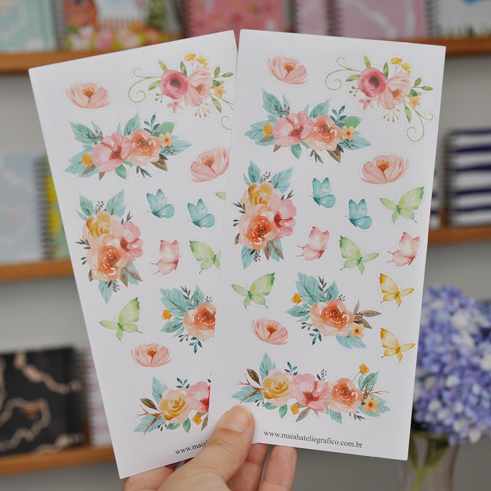 Kit Adesivos Flores do Bosque