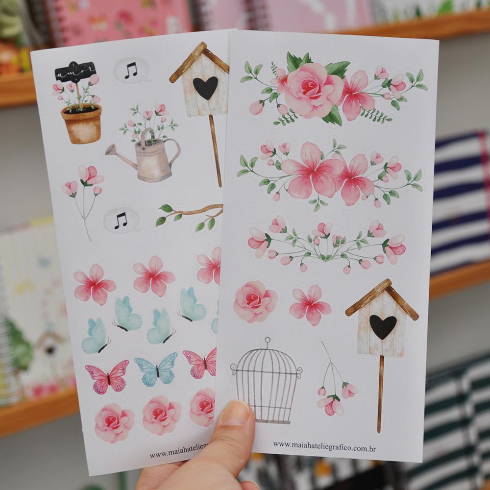 Kit Adesivos Flores do Jardim
