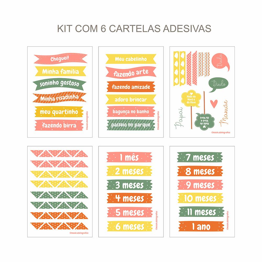 Kit Adesivos Maternidade Rosé/Amarelinho