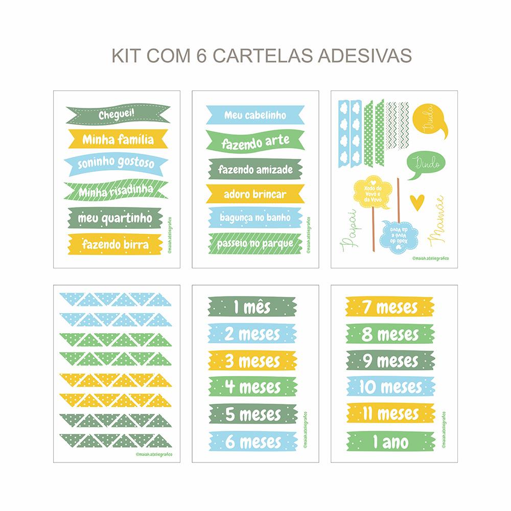 Kit Adesivos Maternidade Verde/ Amarelinho