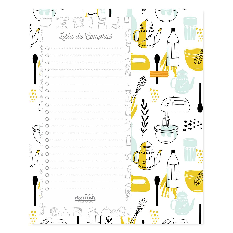 Lista de Compras com Ímã Chef