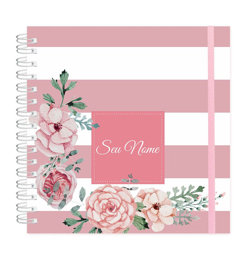 Planner Candy Flowers Rosé