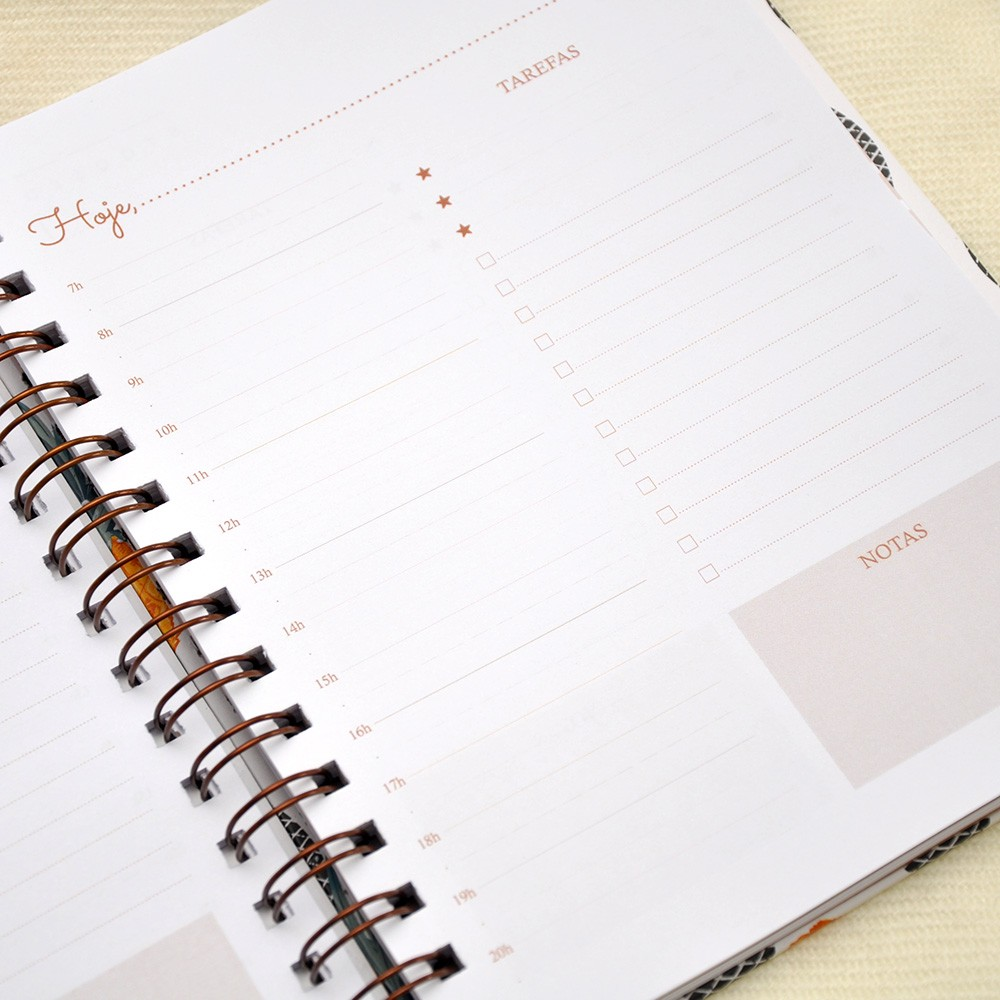 Planner Diário com Logomarca