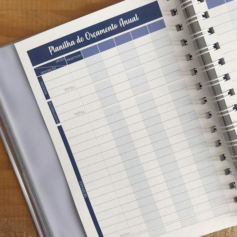 Planner Financeiro Blue Forest