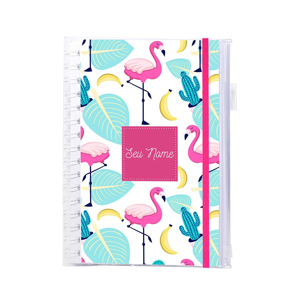 Planner Financeiro Flamingos
