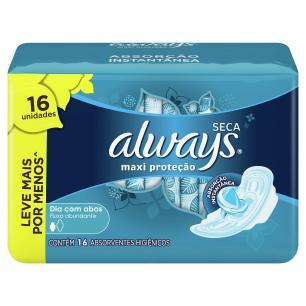 Absorvente Always Proteção Total Suave com abas