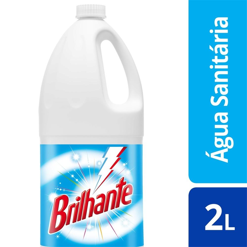 Água Sanitária Brilhante Cloro Ativo Sem Perfume 2L