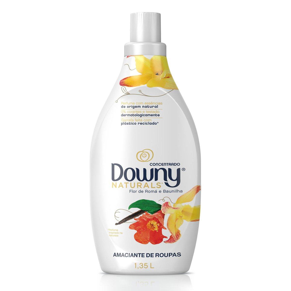 Amaciante Downy Concentrado Naturals Flor de Romã e Baunilha 1,35L