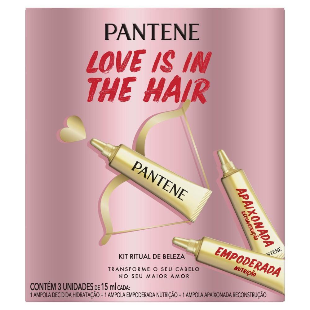 Ampola Pantene Valentines com 3 unidades de 15ml cada