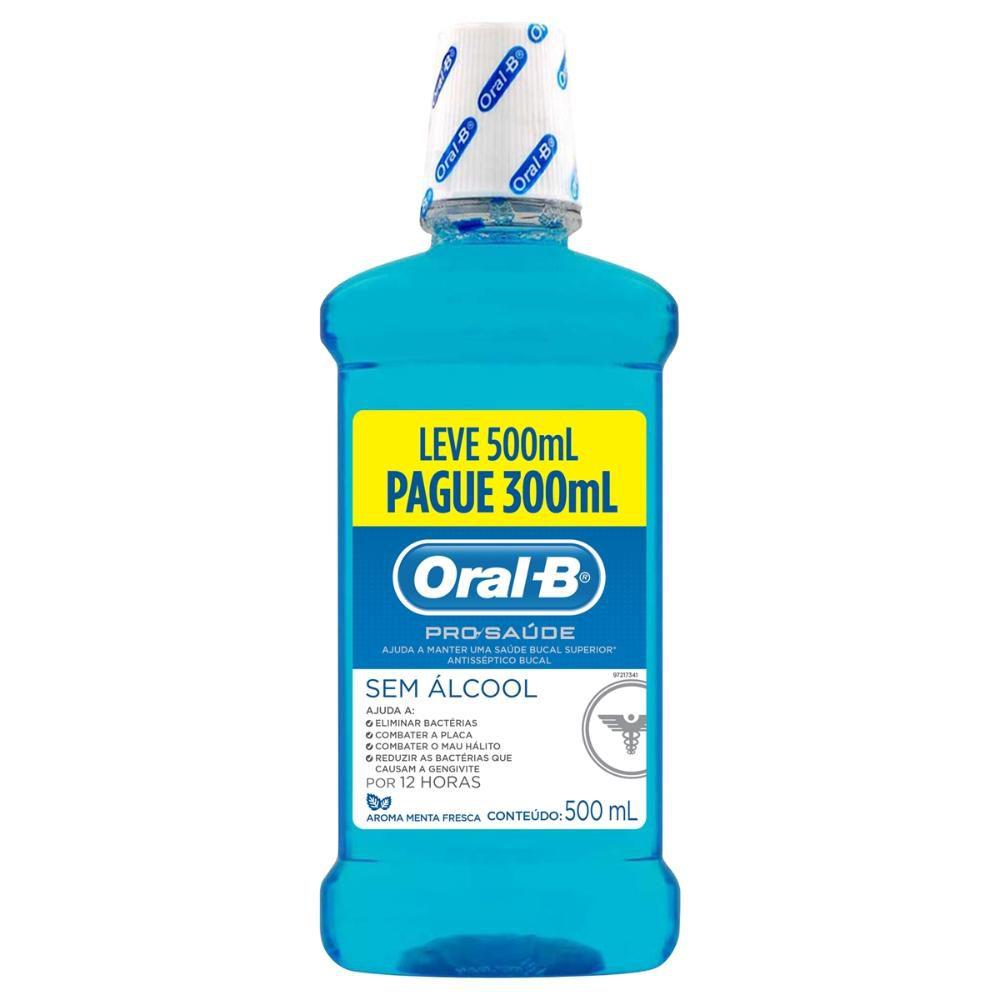 Antisséptico Bucal Oral-B Pro Saúde Leve 500mL Pague 300mL