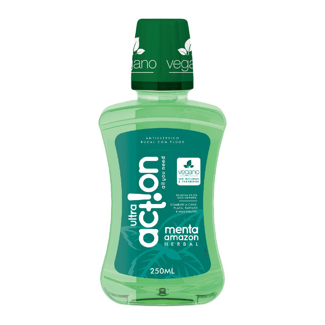Antisséptico Bucal Ultra Action Menta Amazon 250ml