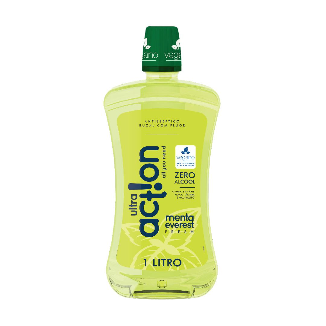 Antisséptico Bucal Ultra Action Zero Alcool Menta Everest 1L