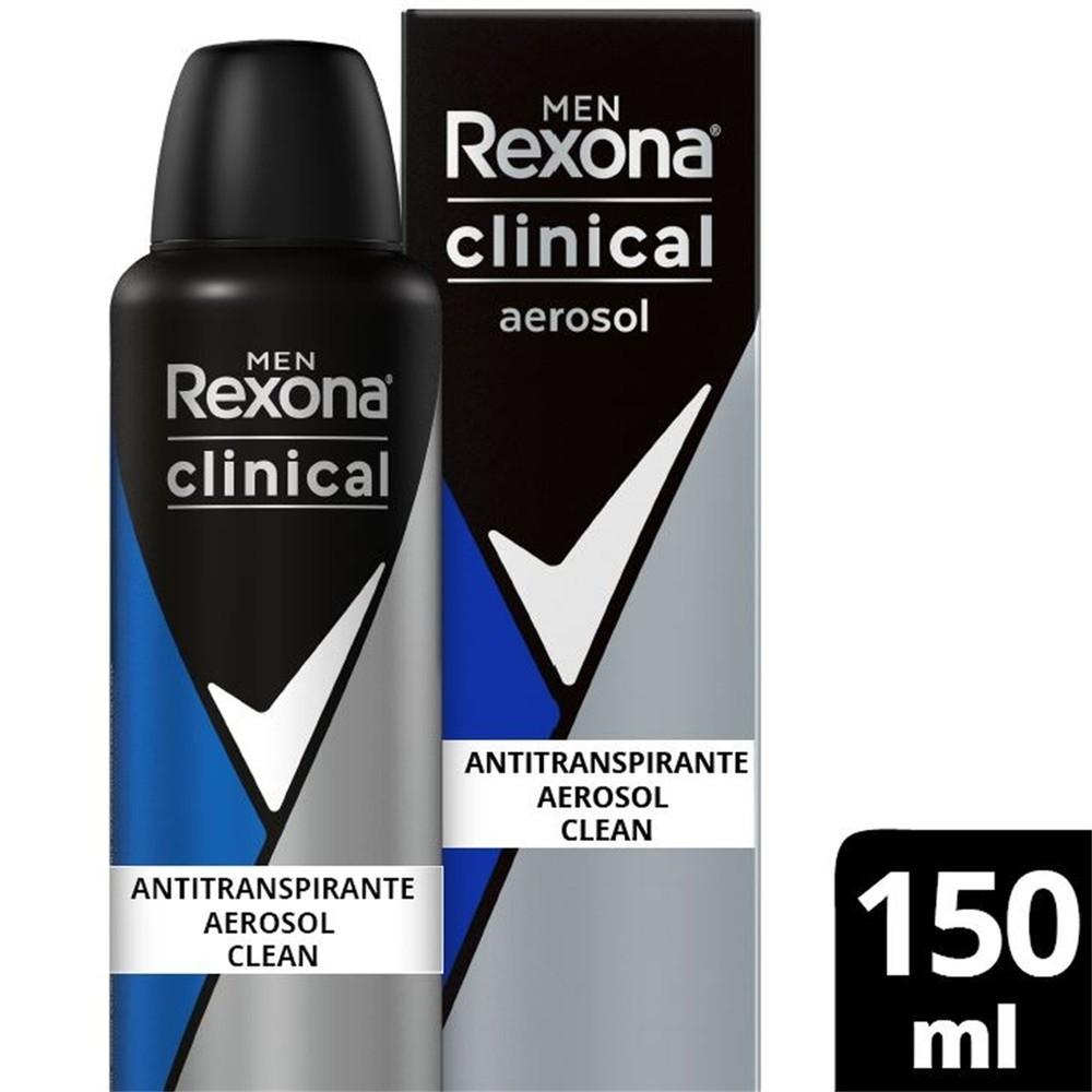 Antitranspirante Aerosol Rexona Men Clinical Clean 150ml