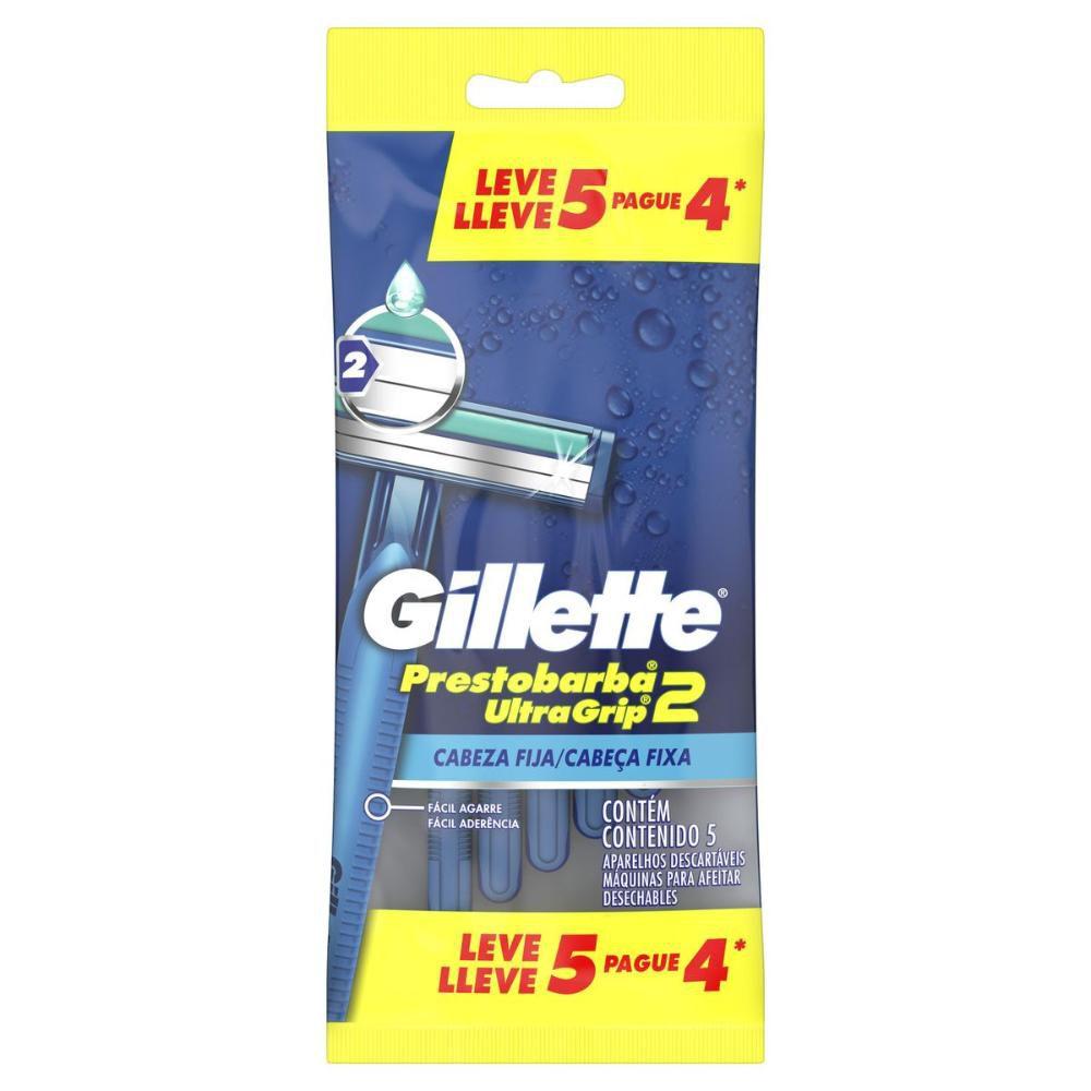 Aparelho de Barbear Gillette Prestobarba Ultragrip com 5 Unidades