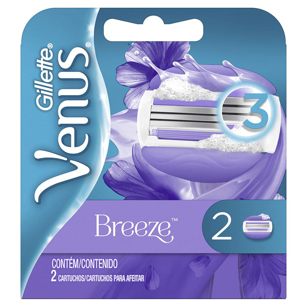 Carga Gillette Venus Breeze - 2 unidades