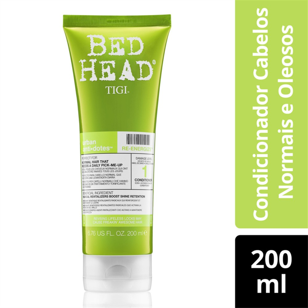 Condicionador Bed Head Tigi Urban Anti+Dotes Re-Energize 200ml