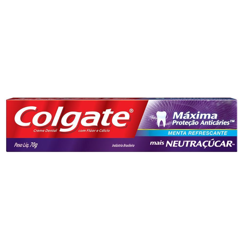 Creme Dental Colgate Máxima Proteção Anticáries mais Neutraçúcar 70g