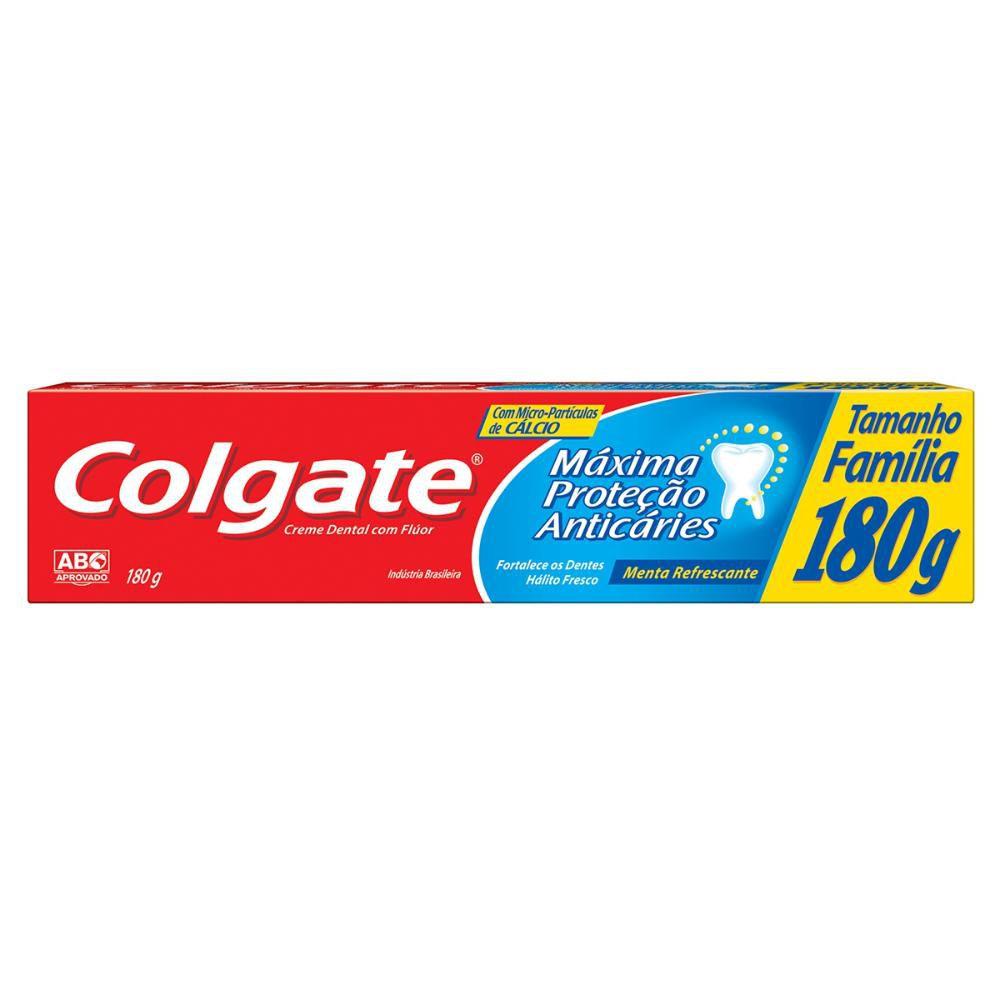 Creme Dental Colgate Máxima Proteção Anticáries Tamanho Família 180g