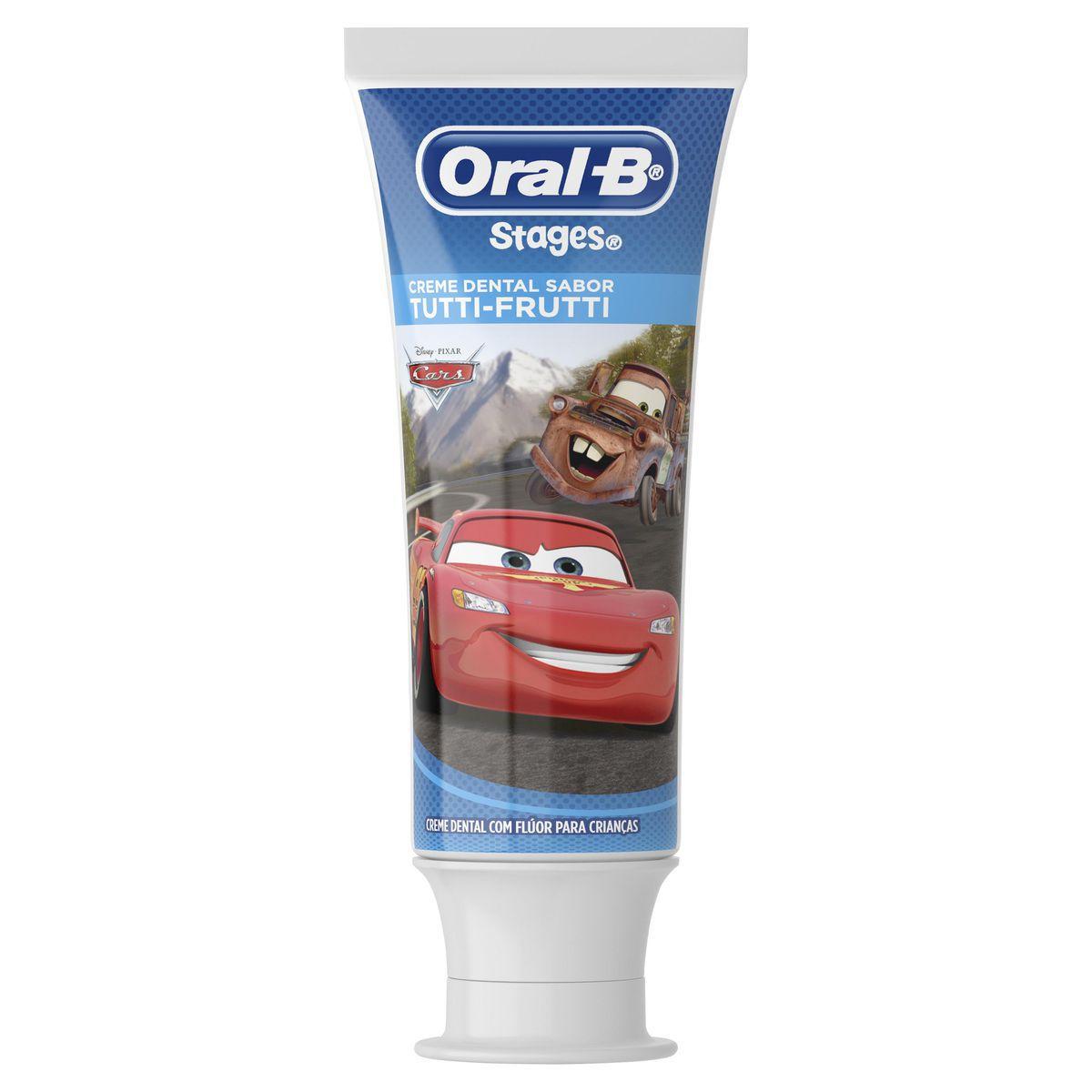 Creme Dental Infantil Oral-B Stages Personagens Disney 100g