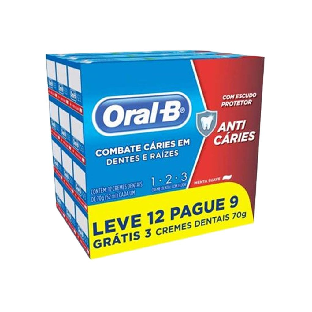 Creme Dental Oral-B 123 70g Leve 12 Pague 9