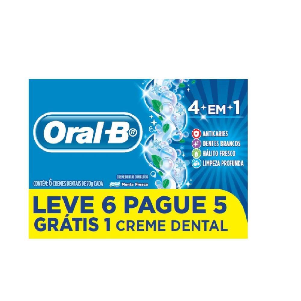 Creme Dental Oral-B 4 em 1 Leve 6 Pague 5 70g