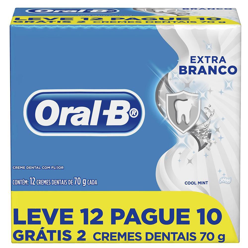 Creme Dental Oral-B Extra Branco Leve 12 Pague 10 70g