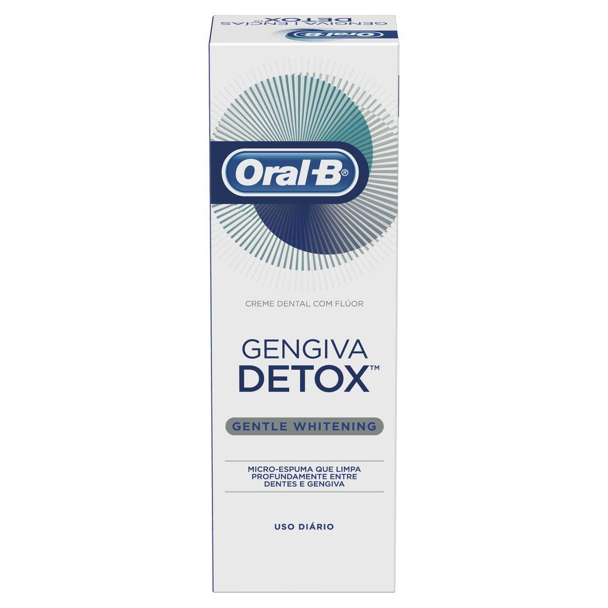 Creme Dental Oral-B Gengiva Detox Gentle Whitening 102g
