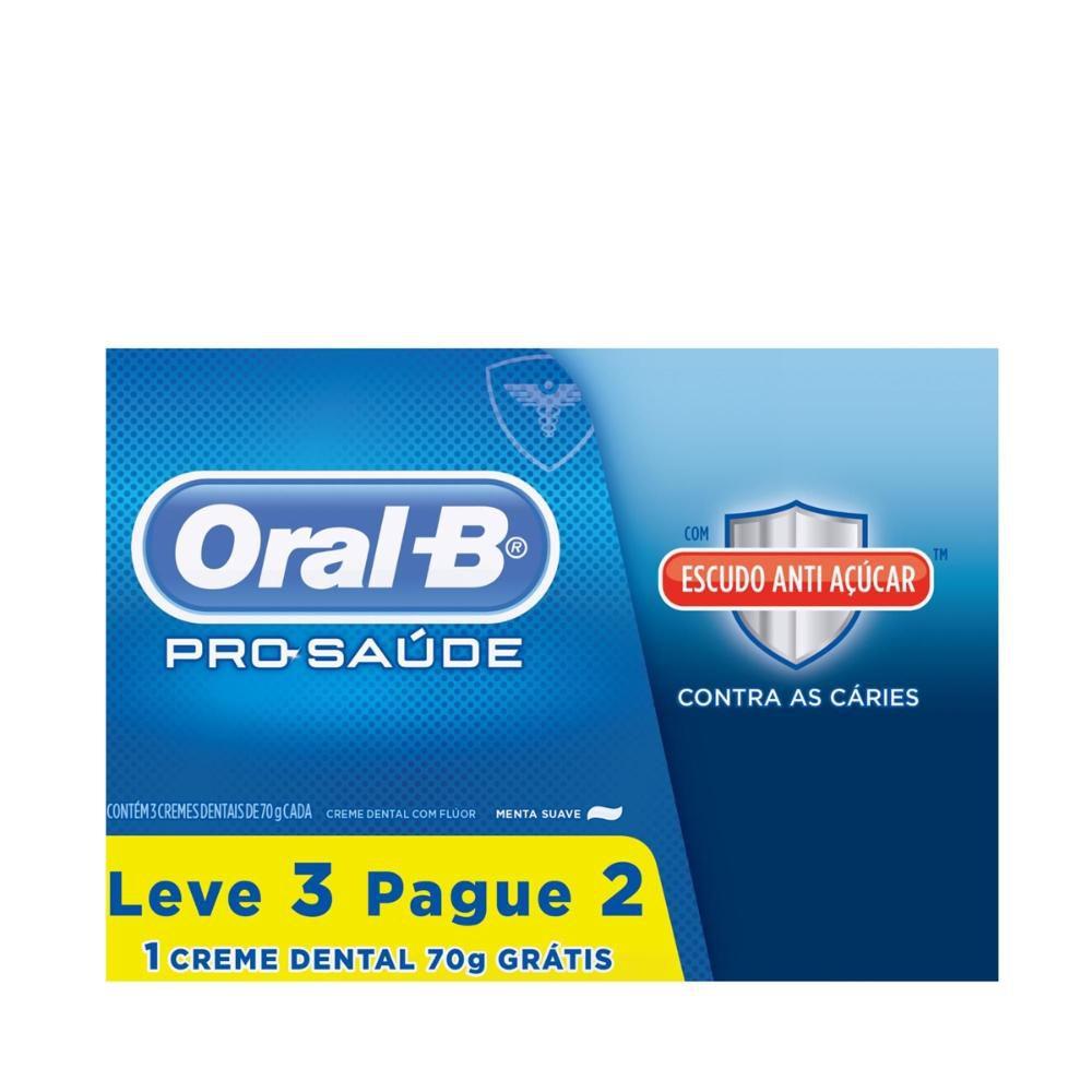 Creme Dental Oral-B Pro Saúde Escudo Anti-Açúcar Leve 3 Pague 2