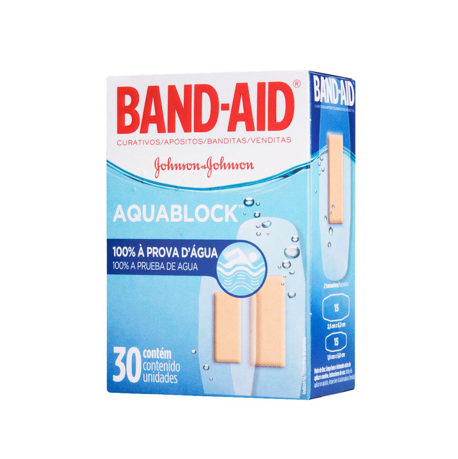 Curativos Band-Aid Aquablock 30 Unidades